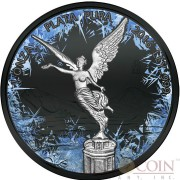 Mexico FROZEN LIBERTAD series DEEP FROZEN 1 Onza Silver coin 2016 Black Ruthenium and Platinum plated 1 oz